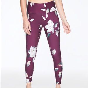 🆕 Athleta Floral Elation 7/8 Tight Leg Purple XS